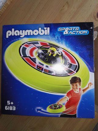disco playmobil con muñeco