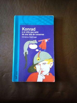 libro konrad el niño que salió de una lata...