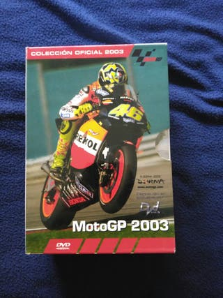 Pack 5 DVD's mundial Moto GP 2003