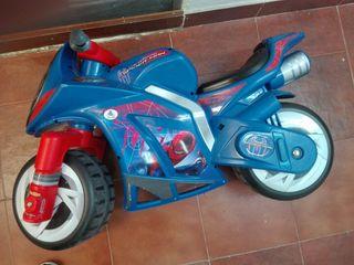 Moto juguete spiderman