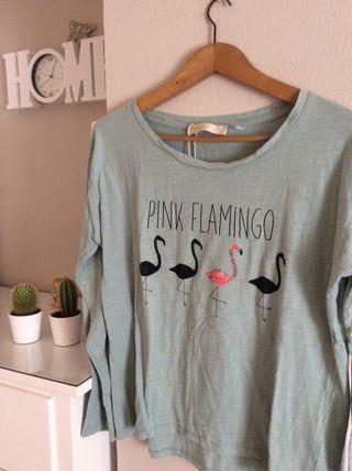 Camiseta flamencos
