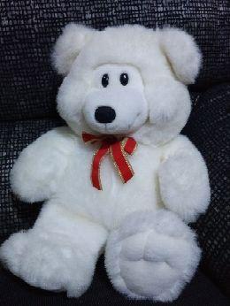 peluche oso blanco con lazo nuevo ideal pa Regalo