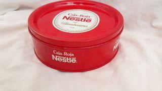 Lata de chocolates Caja Roja de Nestlé