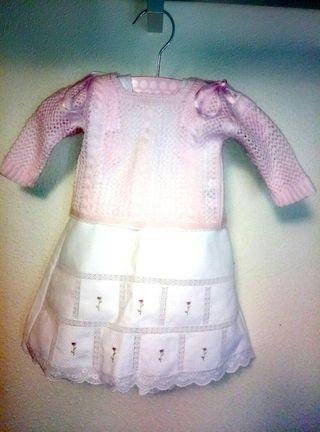 vestido con jersey primera puesta