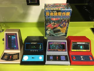 Tabletop game watch by Tomy,King man,tron,Caveman,Japan,bandai,casio,Nintendo,sega,