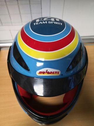 Casco simil F1 Renault para niños Majorette