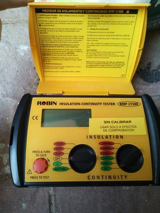 Insulation-continuity tester.