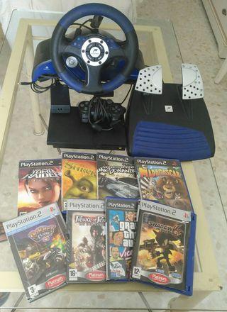 play station,mandos,juegos,volante y pedales