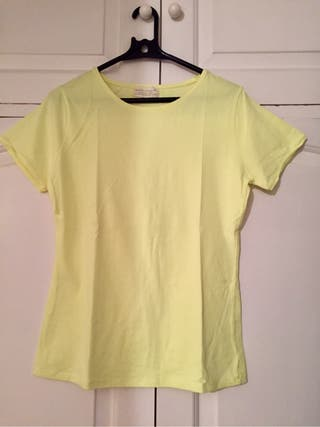 Camiseta Zara amarilla neón