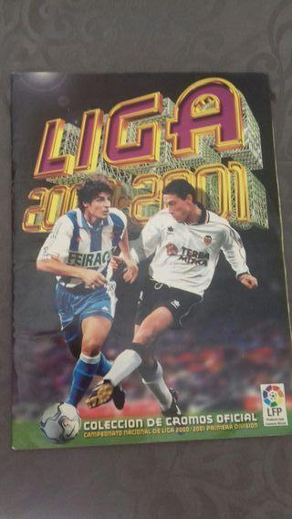 Álbum cromos futbol liga 2000/01