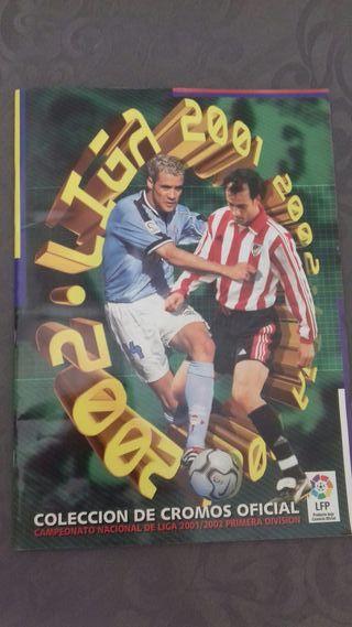 album cromos liga 2001/02