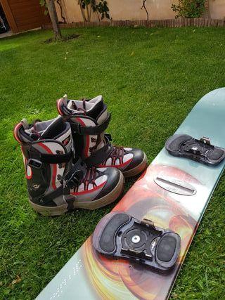 botas y tabla snow