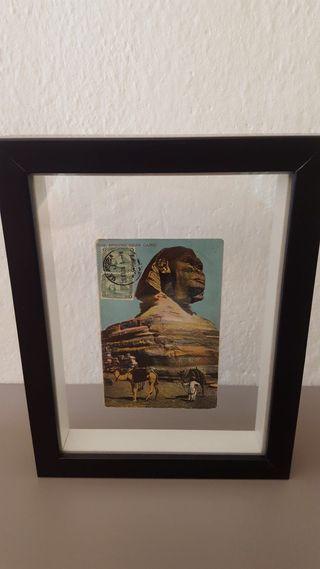 Cuadro con postal Egipto tarjeta máxima