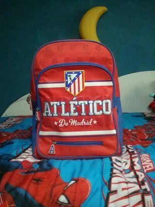 Mochila Atletico de Madrid seminueva