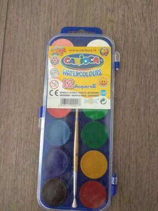 acuarelas 12 colores