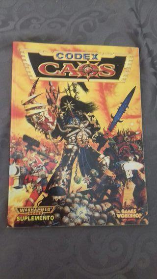 suplemento codex caos warhammer 40.000