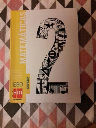 Libro de texto matemáticas 2°eso
