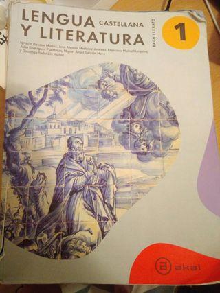 libro lengua castellana y literatura 1 bach