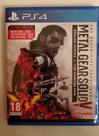 Caja Metal Gear Solid V: definitive edition