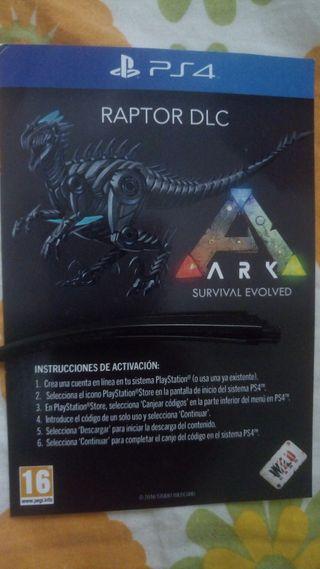 Dlc Ark Survival PS4 Raptor