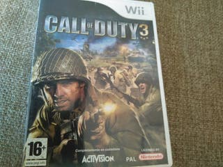Juego wii call of duty 3