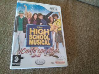 Juego wii high school musical
