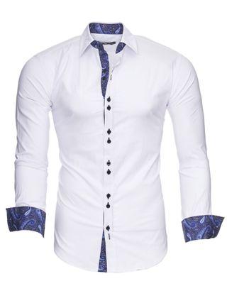Camisa hombre Slim Fit, Color Blanca,Tallas:S/XXL