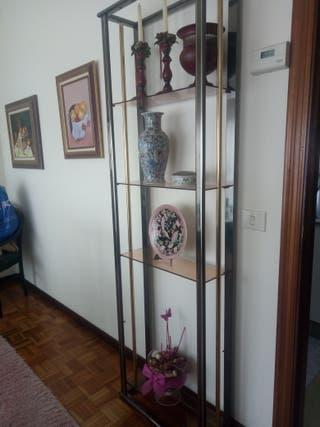 estanteria metal cristal