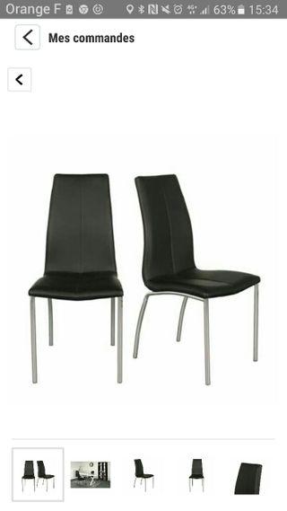 lot 2/4 chaises