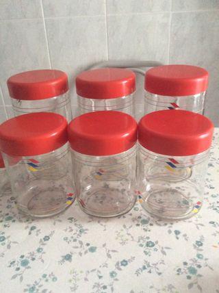 Bote tarros cocina de cristal de segunda mano por 9 en for Tarros de cocina baratos
