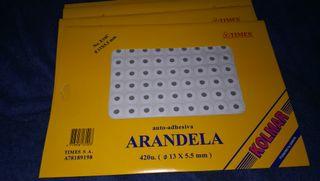 arandela auto-adhesiva para folio