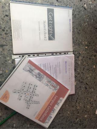 Libros lengua y inglés 2 Bach