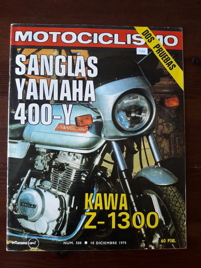 Revista MOTOCICLISMO N° 588 de 1978
