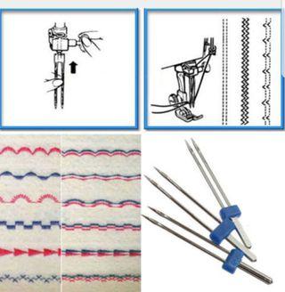 Agujas dobles/Agujas gemelas para maquina de coser