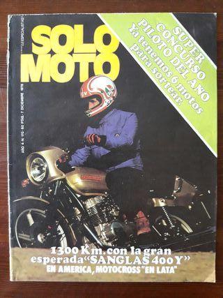 Revista SOLO MOTO N° 170 de 1978
