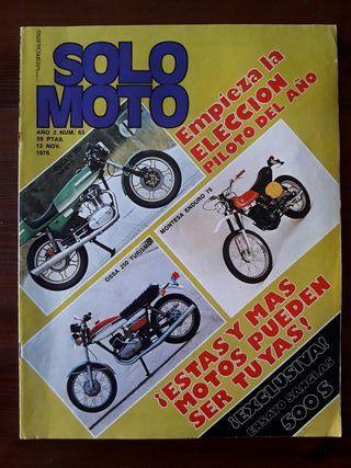 Revista SOLO MOTO N° 63 de 1976