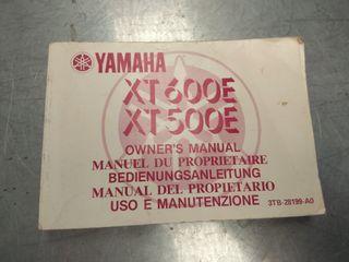 manual xt 600 E nuevo
