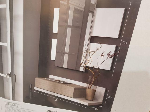 Mueble recibidor espejo nuevo de segunda mano por 65 - Recibidor segunda mano ...