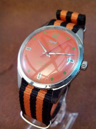 Reloj vintage naranja
