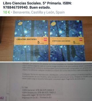 libro de ciencias sociales 5 de Primaria