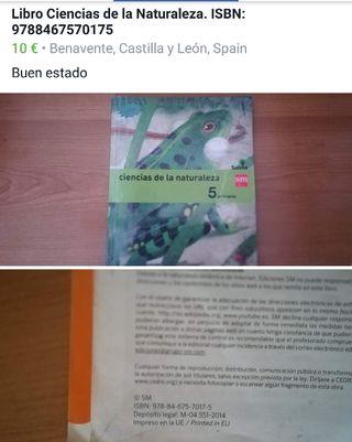 Libro de Ciencias de la naturaleza 5 de Primaria