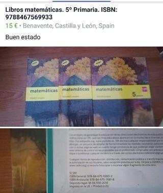 Libros de Matemáticas 5 de Primaria