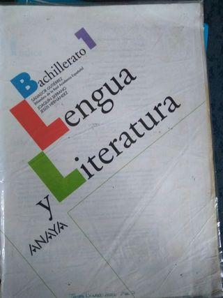 libro lengua y literatura 1 bachiller