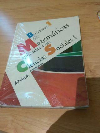 libro matemáticas 1 bachillerato sociales