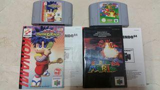 Juegos de N64 Nintendo 64 con manuales