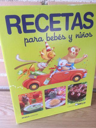 Libros recetas bebés y niños