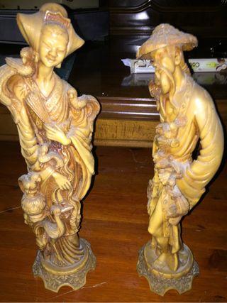 Figuras de resina antiguas
