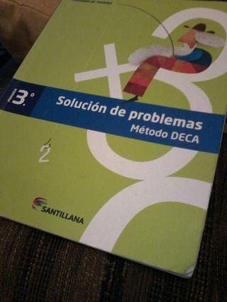 solucion problemas, metodo DECA. Santillana 3 PRI