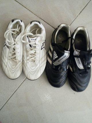 2 pares de zapatos de futbol oferta 10€