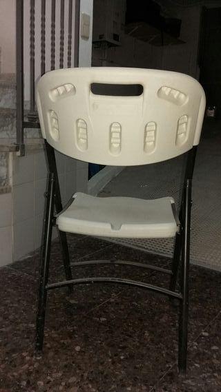vendo 4 sillas plegables
